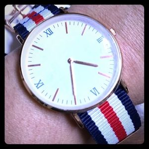 American flag colors fashion watch, new with tags